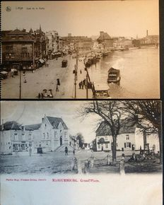 Belgium - 154 old postcards of the first half of the 20th century