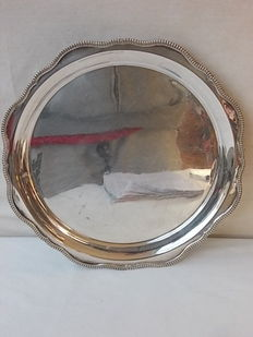 English Silver plated tea tray, Harrods, tray. circa 1950
