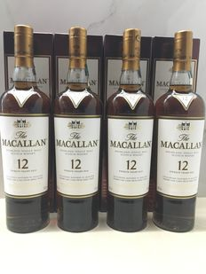 Macallan 12 Year Old Sherry Oak x 4 700ml bottles