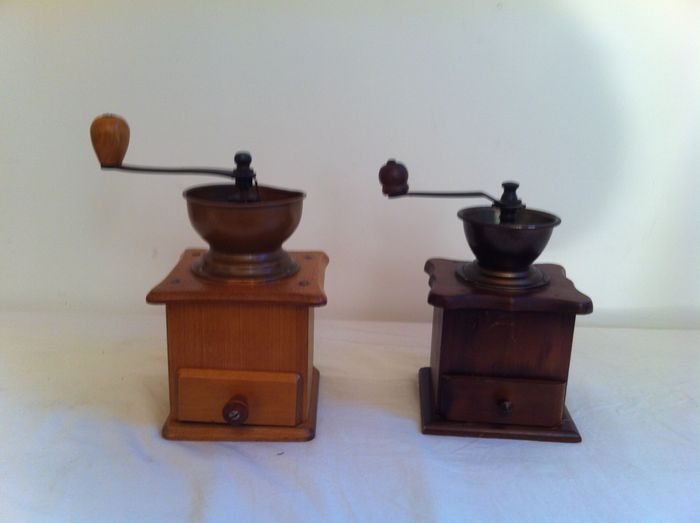 Two coffee grinders - mid 20th century