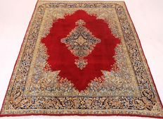 Old hand-knotted Persian palace carpet, old Lawer Kirman oriental carpet, 225 x 325 cm, Tapis Tappeto carpet, very good condition