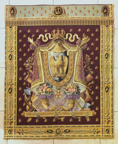 Tapestry representing the imperial arms of Napoleon 1st
