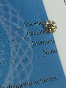1.45 ct Round brilliant -cut diamond natural J SI2