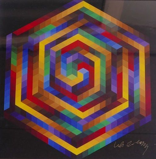 Victor Vasarely - Hat - B