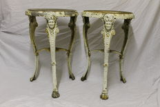 Pair of cast-iron stands - France - 19th century