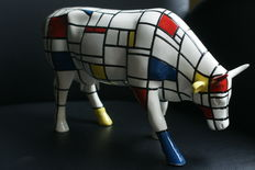 Cow Parade - Cow - Large model - Piet Mondrian