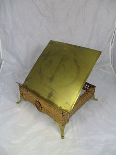 Bible stand - yellow copper - second half of 19th century