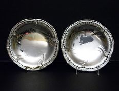 Eugene Lefebvre - A pair of high quality French silver serving dishes