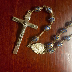Sterling Silver Lucite Vintage Rosary