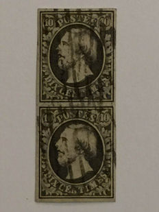 Luxembourg 1852 - King Guillaume III 10 cents in pairs
