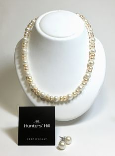 Hunters'Hill - necklace/earstuds  - 46 cm - new