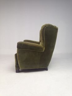 Designer unknown - Danish furniture producer - spectacular, vintage armchair.