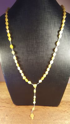 Baltic Amber whitecolor  rosary