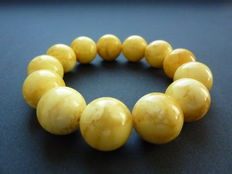 Baltic amber bracelet, vintage milk-honey colour