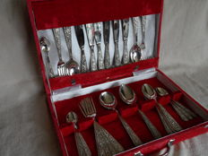Vintage 6 pers. cutlery in art nouveau style - Germany - second half 20th century