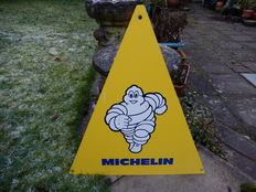 Michelin - Bibendum - Original Aluminium Triangle Garage Sign - 57 cm high and 51 cm at the widest part