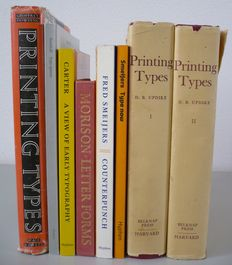 Lot with 7 books on typography - 1961 / 2003