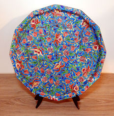 Enamels of Longwy - large dodecagonal loader tray - Art Deco