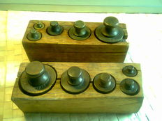 2 sets of weights in block - calibrated - Indonesia - 19th and 20th century