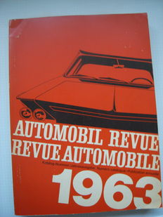Automobil Revue / Revue Automobile  yearbook 1963 edition - 23 x31 x 2cm - German and French languages -