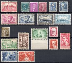 France 1934/1935 – Two complete years  – Yvert No 294/308