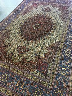 Beautiful hand knotted original Persian Moud with plant-based colours! approx. 200 x 305 – in very good condition - fast, free shipping!
