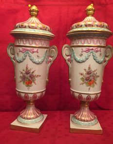 Sevres pair of potiche vases
