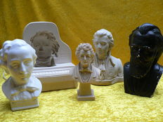 Classic Lot of 4 busts and a lamp