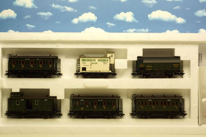 Märklin H0 - 43985 - Freight wagon set - Passenger car set for freight transport - K.Bay.Sts.B