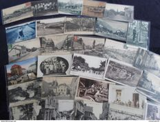 Lot of 148 beautiful cards including 32 old selection of postcards all animated and 22 cabinet cards from the end of the 19th beginning of the 20th century 44 semi-modern postcards and 50 old postcards various