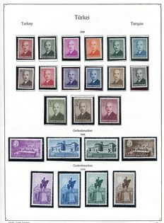Turkey 1948-1960 collection on album leaves