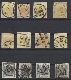 Postal stamps from Austria, collection of issues from 1850