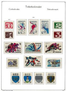 """Czechoslovakia 1980 – 1992 collection on """"KA-BE"""" printed pages."""