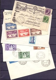 Luxembourg 1927/1956 - composition of 5 letters and FDC's