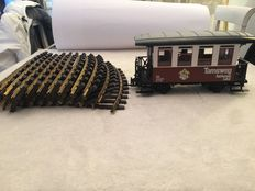 Scale G - LGB - 12x curved tracks + carriage