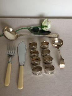 Collection of silver-plated objects England early and middle 20th century.