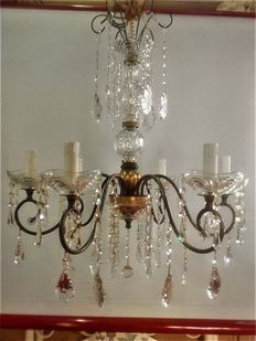 Chandelier with Crystal, Bohemia, recently produced