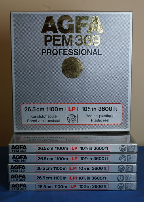 6 AGFA PEM 369 Professional reels 26 cm for tape recorder.