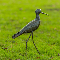 Sculpture of a black-tailed godwit