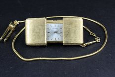 Movado Ermeto – 18 kt yellow gold – 1950s table/pocket timepiece with 18 kt gold chain