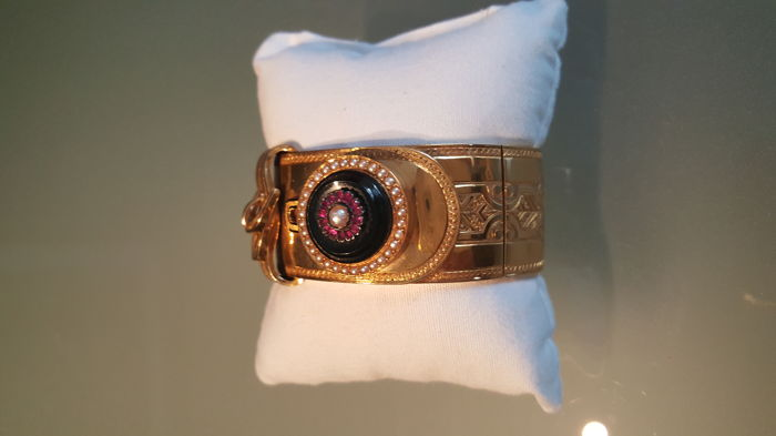 Other - 19,2 kt. Gold - Bracelet Ruby - Rubys