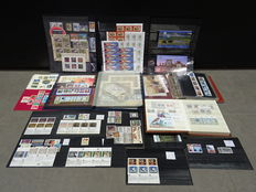 World - Selection  of stamps and Blocks in stock book, on stock cards and in bags.