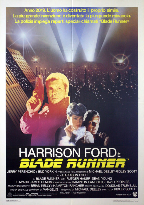 Blade Runner - Original Italian Movie Poster - Size 100x140 CM - Harrison Ford