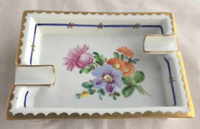 Carl Thieme Potschappel Dresden - antique porcelain ashtray