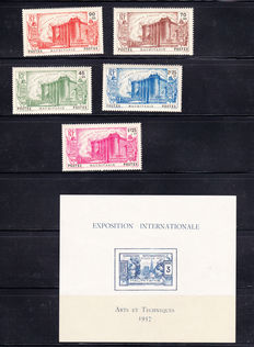Mauritania - Ex-French colonies 1906/1937 - ollection with Airmail, Postage Due and 1 block - Yvert between no. 1 and 137.