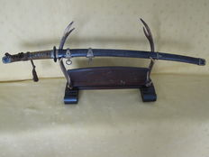 Authentic WW2 Imperial Japanese Navy officer katana (Kai Gunto), Showa period (1926-1945). WW2.