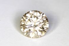 Diamant  1.52 ct  Top Light Brown - Zonder Reserve Prijs