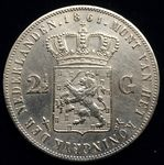 Siehe unsere The Netherlands – 2½ guilders 1861 Willem III – silver