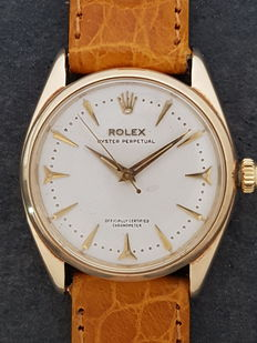 Rolex Oyster Perpetual – Unisex watch in yellow gold – Circa 1956