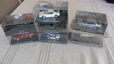 James Bond Collection Cars - 7 modelcars from the movies - GE Fabri ltd - 1/43  2006-2008